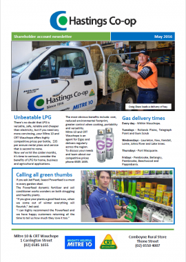 craig loading the ute at farm supplies wauchope hastings co-op May newsletter 2016