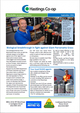 Darren using the paint mixer at Mitre 10 / CRT wauchope in monthly newsletter