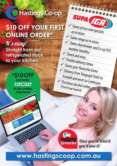 $10 off your first online grocery order