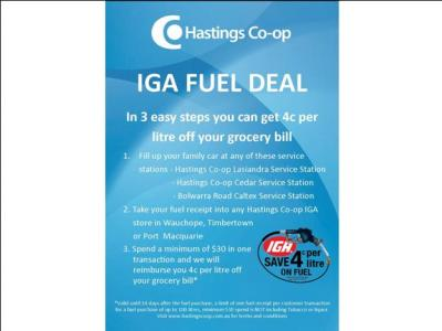IGA fuel deal