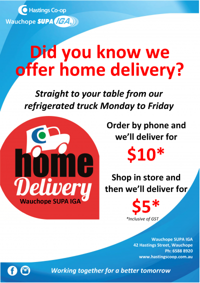 Wauchope IGA home delivery