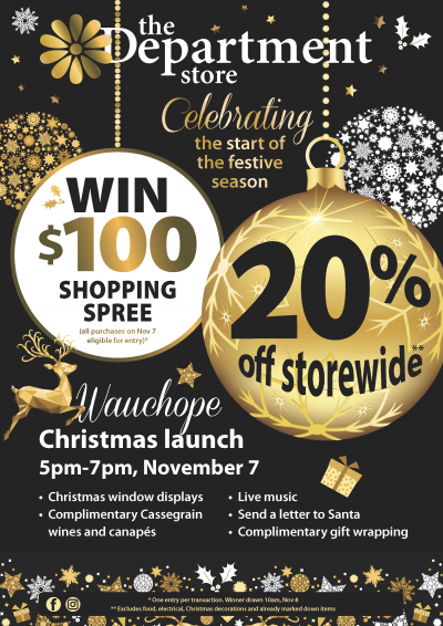Wauchope Department Store Christmas launch flyer