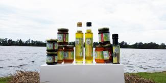 Bago bluff products sitting on the manning river