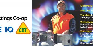Wauchope Mitre 10 & CRT gas delivery locations