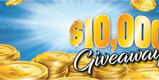 Go in the draw to win $10,000 or 1 of 10 $500 vouchers