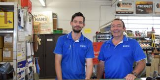 Ged and Darren at Mitre 10 & CRT