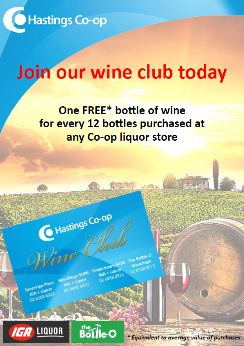Wine club poster