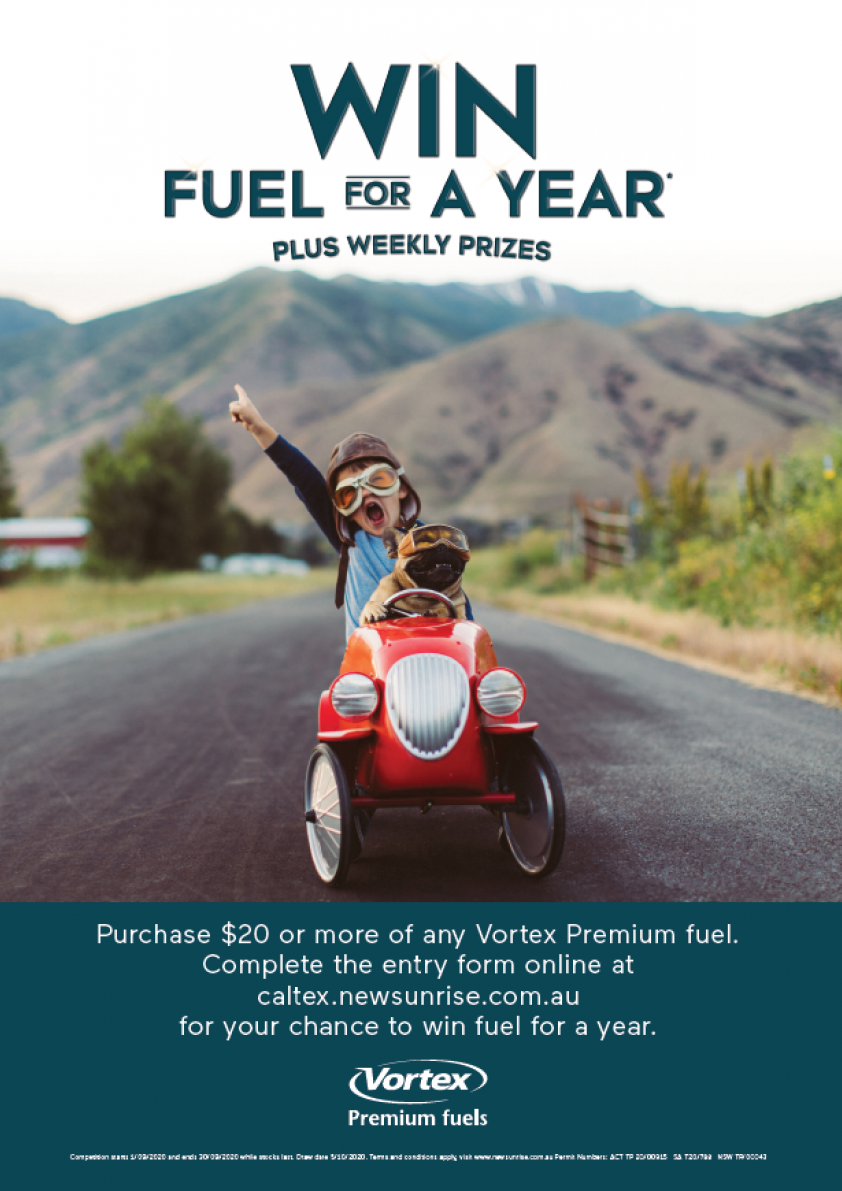 Win fuel for a year poster